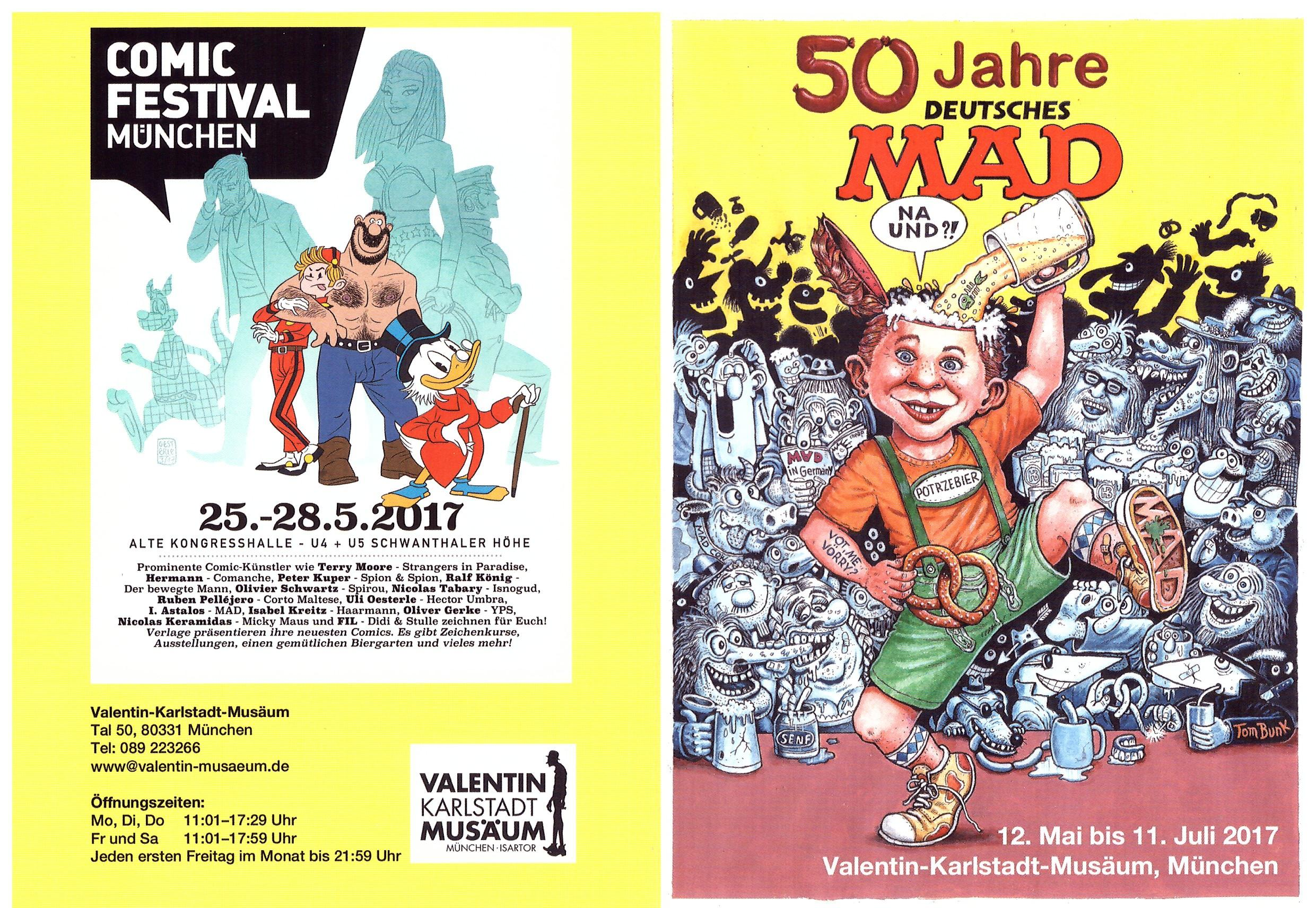 Comic Festival Germany 4 page Flyer • Germany