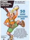 German Comic Festival Germany 4 page Flyer (Blue Version) Manufactor: Comic Festival München Original price: free Publication Date: 2016