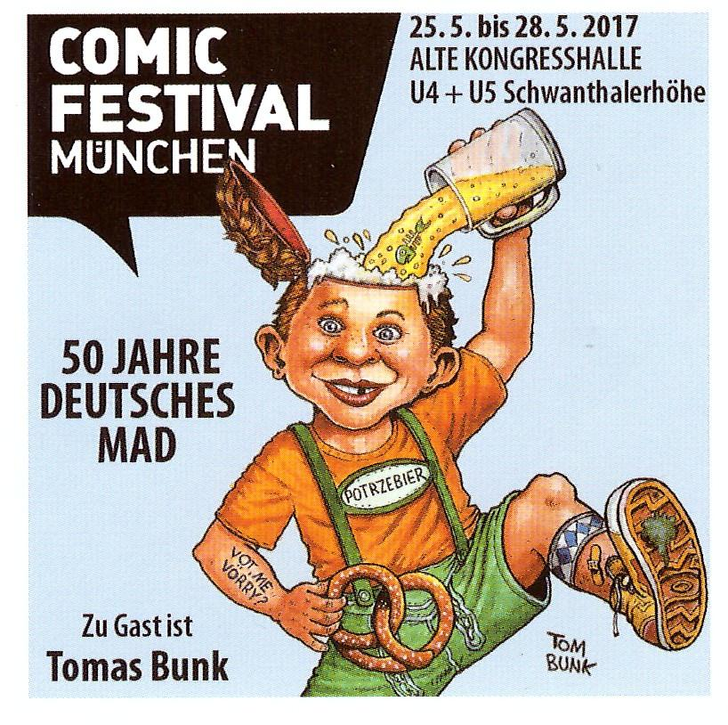 Comic Festival Germany Promotional Sticker • Germany