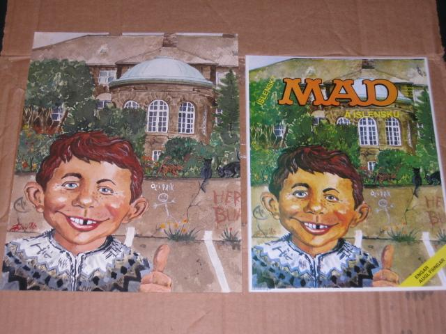 Icelandic MAD Magazine #1 Original Front Cover Art Painting • Iceland