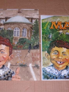 Go to Icelandic MAD Magazine #1 Original Front Cover Art Painting • Iceland