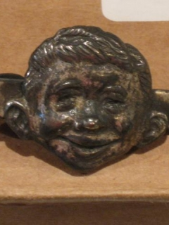 Go to Tie Bar Jewelry Piece Alfred E. Neuman Original 1950's • USA