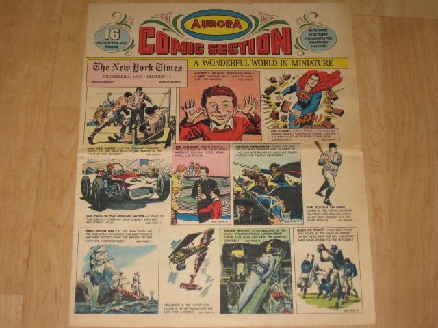 Aurora Color Comic Section w/ 1966 MAD Magazine Calendar • USA