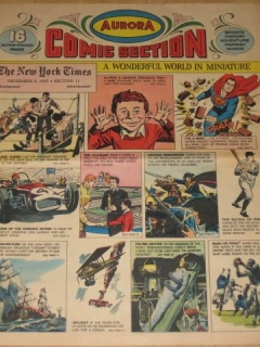 Go to Aurora Color Comic Section w/ 1966 MAD Magazine Calendar • USA