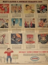 Image of Aurora Color Comic Section with 1966 MAD Magazine Calendar