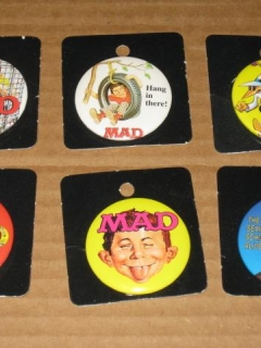 Go to Set of 6 MAD Pinback Buttons (The Button Exchange) • USA