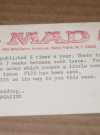 Image of Subscription Renewal Notice Card 1960's MAD Magazine