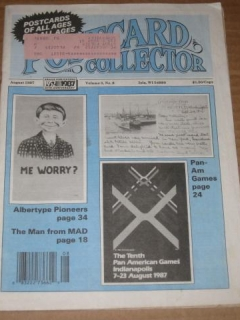 Go to Postcard Collector Magazine (August 1987) w/ Pre-MAD Postcards Article