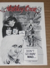 US Motley Crue Original Promo Postcard w/ Mort Drucker Art Manufactor: Elektra Entertainment Publication Date: 1990