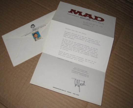 Foreign MAD Magazine Letter w/ Envelope 1960's • Netherlands