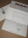 Image of Foreign MAD Magazine Letter w/ Envelope 1960's