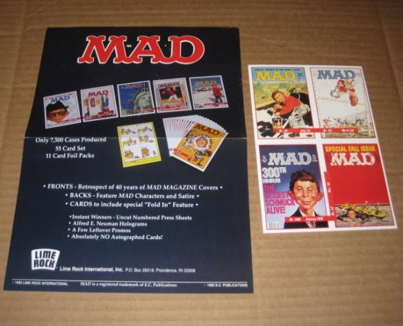 Trading Cards MAD Series I and II Original Advertising Flyers • USA