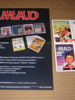 MAD Magazine Series I and II Trading Cards Original Advertising Flyers