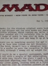 Image of MAD Magazine / Jerry DeFuccio Original Signed Letter (1960's Photocopy)