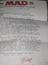 Thumbnail of Signed Letter MAD Trip - The 1991 MAD Cruise