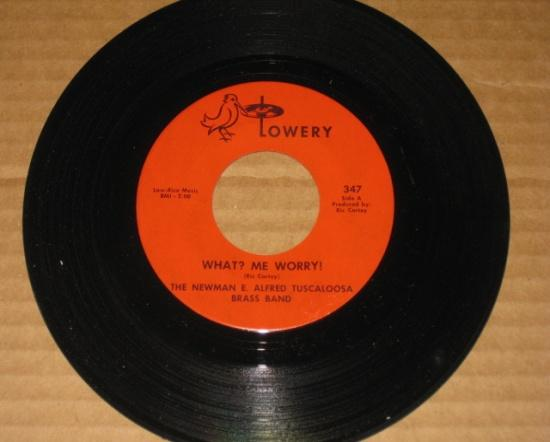 """Record 45rpm The Newman E. Alfred Tuscaloosa Brass Band """"What? Me Worry"""" • USA"""