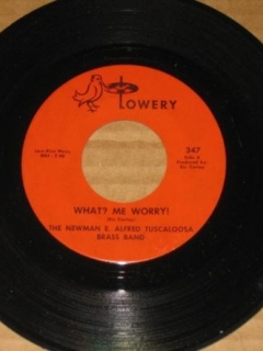 "Go to Record 45rpm The Newman E. Alfred Tuscaloosa Brass Band ""What? Me Worry"" • USA"