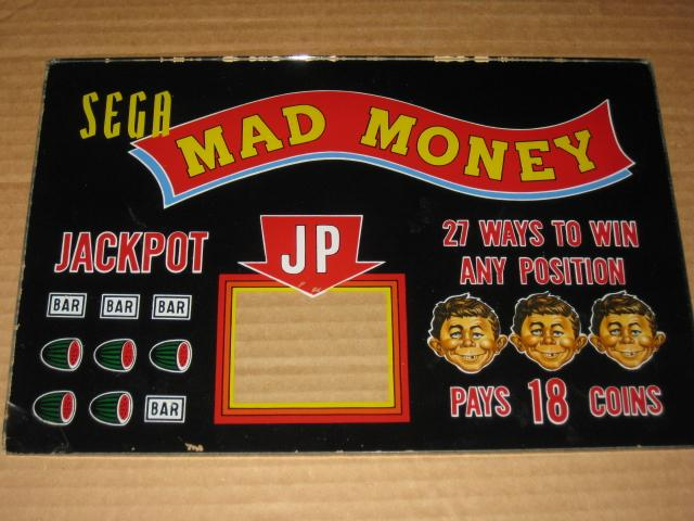 Slot Machine Glass Panel MAD Money • USA
