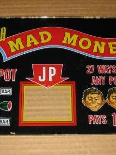 Go to MAD Money Slot Machine Glass Panel w/ Alfred E Neuman