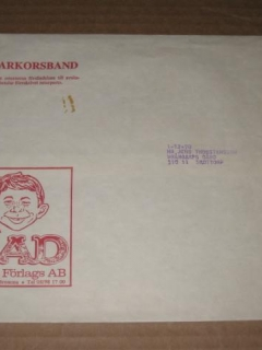 Go to Mailing Envelope 1960's Swedish MAD Magazine • Sweden