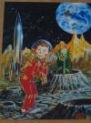 US The Comics Journal #225 Original Color Cover Art Copy (Kelly Freas) Publication Date: 2000