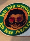 Image of Sticker 'Ich bin verrückt - Ich lese MAD' (green version)