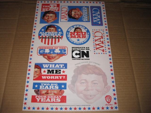 Sticker Sheet Poster MAD Cartoon Network series • USA