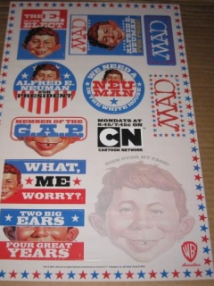 Go to MAD Magazine / Alfred E. Neuman / Cartoon Network Sticker Sheet Poster