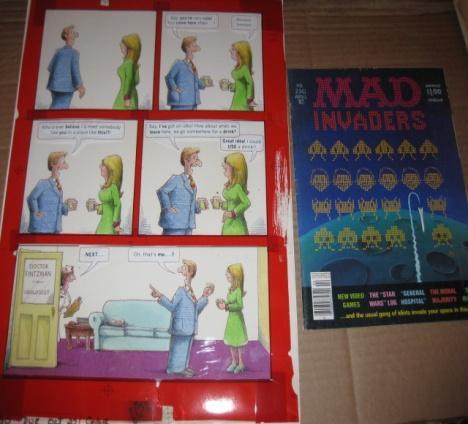 Artwork MAD Magazine #230 Back Cover - John Caldwell - 1982 • USA