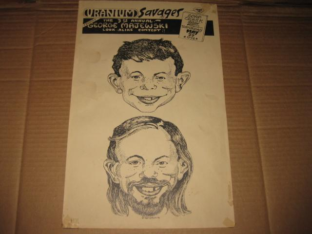 George Majewski Look-Alike Contest Poster w/ Alfred E. Neuman • USA