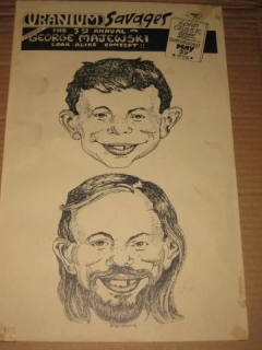 Go to George Majewski Look-Alike Contest Poster w/ Alfred E. Neuman • USA