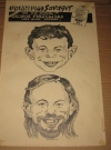 Thumbnail of George Majewski Look-Alike Contest Poster w/ Alfred E. Neuman