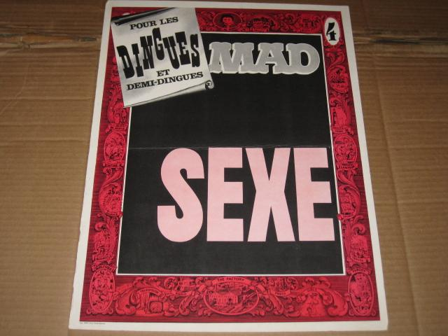 Store Display Poster/Sign French MAD Magazine • France