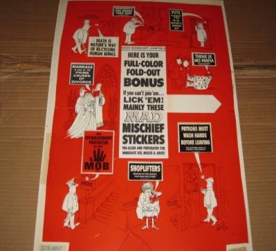MAD Mischief Stickers Original Art / MAD Special #6 / Signed Al Jaffee • USA