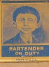 Pre-MAD Magazine / Alfred E. Neuman Matchbook (USA) Manufactor: Diamond Match Company