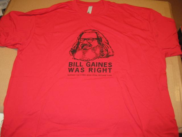 T-Shirt Bill Gaines / Comic Book Legal Defense Fund • USA