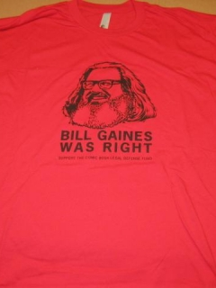 Go to Bill Gaines / Comic Book Legal Defense Fund T-Shirt