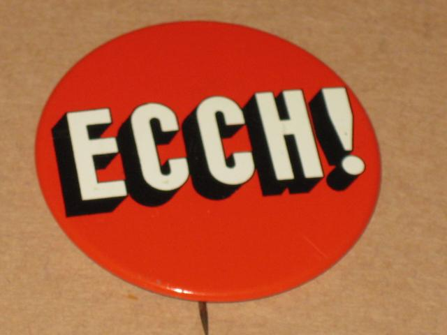 "Pinback Button The MAD Show ""ECCH"" - Happy Medium Theater • USA"
