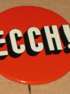 "Go to The MAD Show ""ECCH"" Pinback Button - Happy Medium Theater"