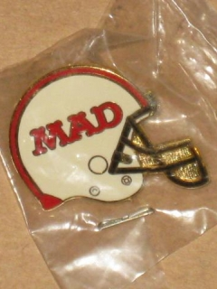 Go to MAD Magazine Promotional Football Helmet Logo Cloisonne Pin • USA