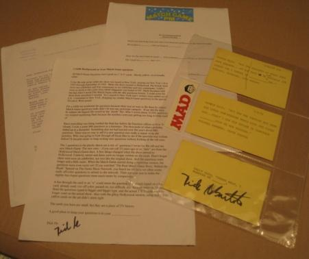 Dick DeBartolo / The Match Game - Original Question Cards - Signed • USA