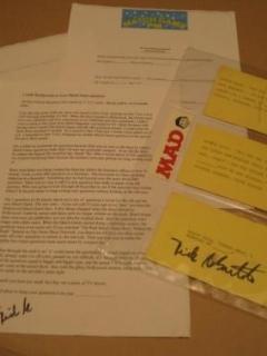 Go to Dick DeBartolo / The Match Game - Original Question Cards - Signed