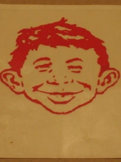 Go to Water Decal 1980's MAD Magazine / Alfred E. Neuman • USA