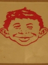 1980's MAD Magazine / Alfred E. Neuman Water Decal (USA) Publication Date: 1980