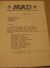 MAD Trip To Germany Room Assignment Sheets w/ Color Picture (USA) Publication Date: 1980