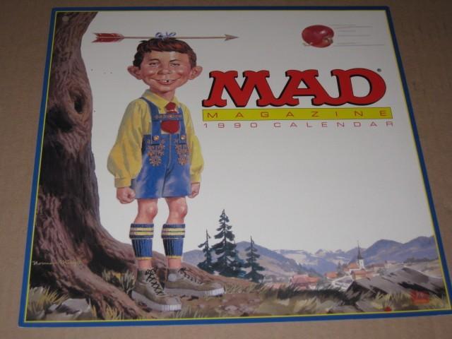 Calendar Display Sign 1990 MAD Magazine • USA