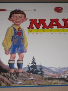 Go to 1990 MAD Magazine Wall Calendar Display Sign