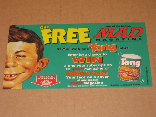 Entry Form TANG / MAD Magazine Official Sweepstakes • USA