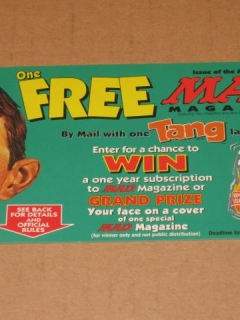 Go to TANG / MAD Magazine Official Sweepstakes Entry Form