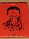 Image of Matchbook Baker's Beanery with Alfred E. Neuman